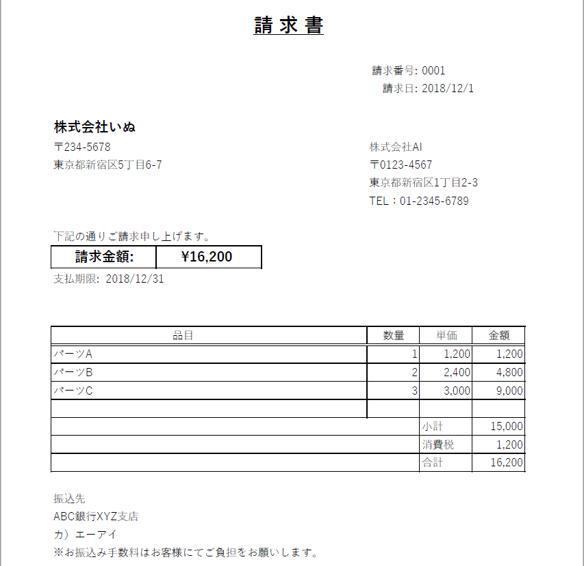 result invoice