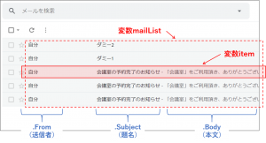 view mail list